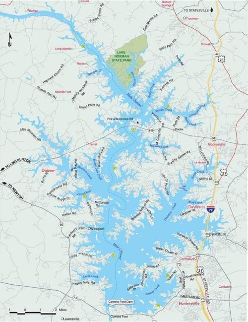 Map of LakeNorman