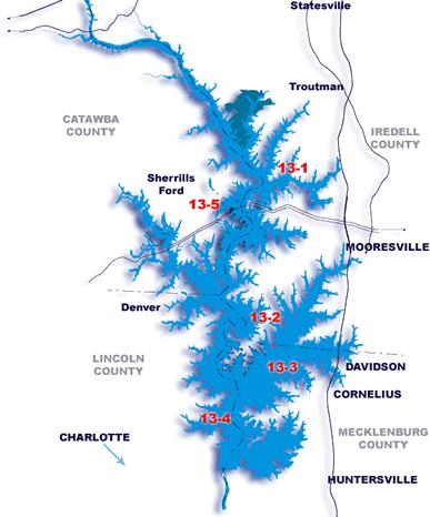 map of lake norman